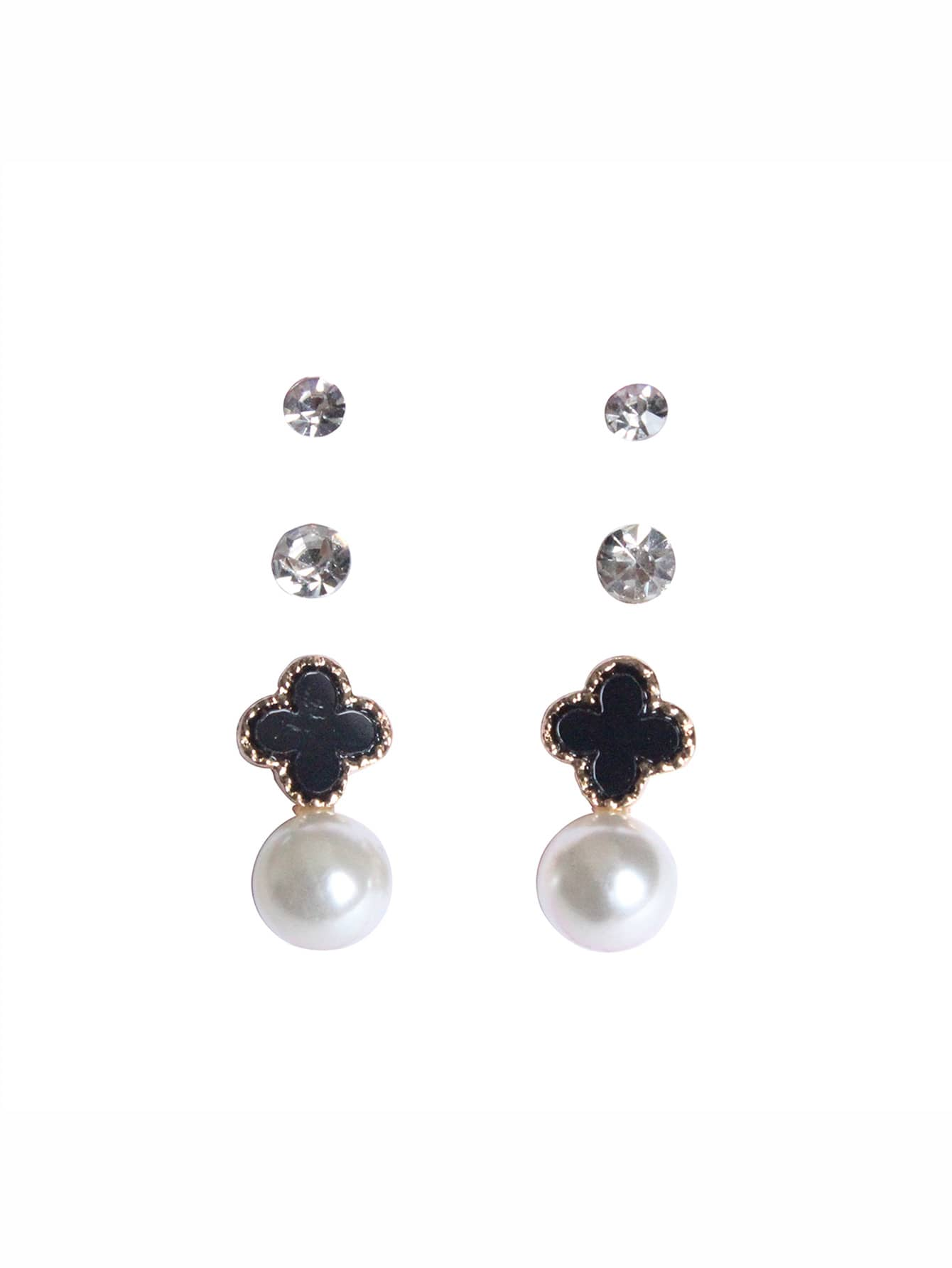 Faux Pearl Drop Earring 3pairs