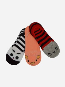 Invisible Cartoon Socks 3pairs