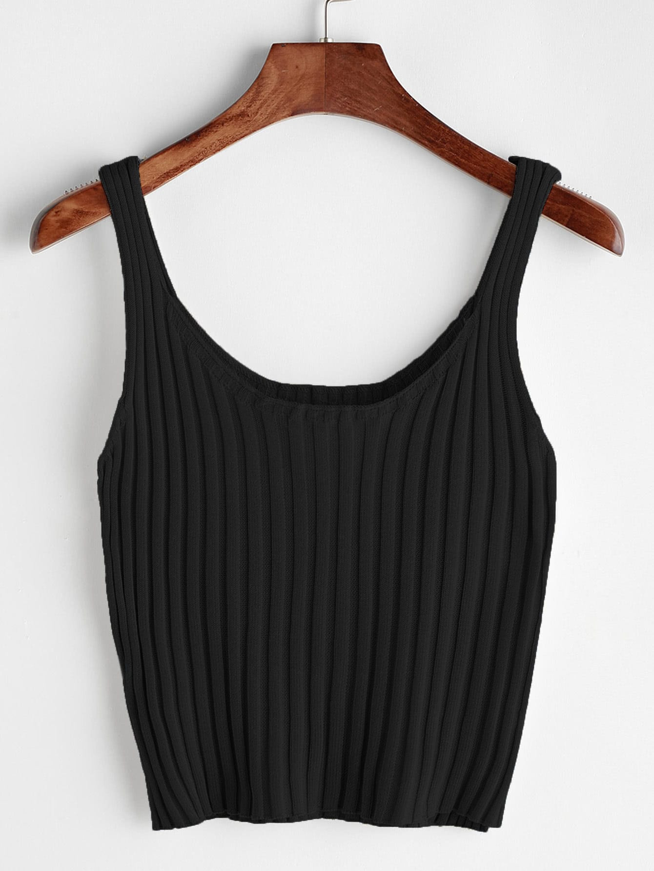 Ribbed Crop Tank Top knot front crop ribbed tank top
