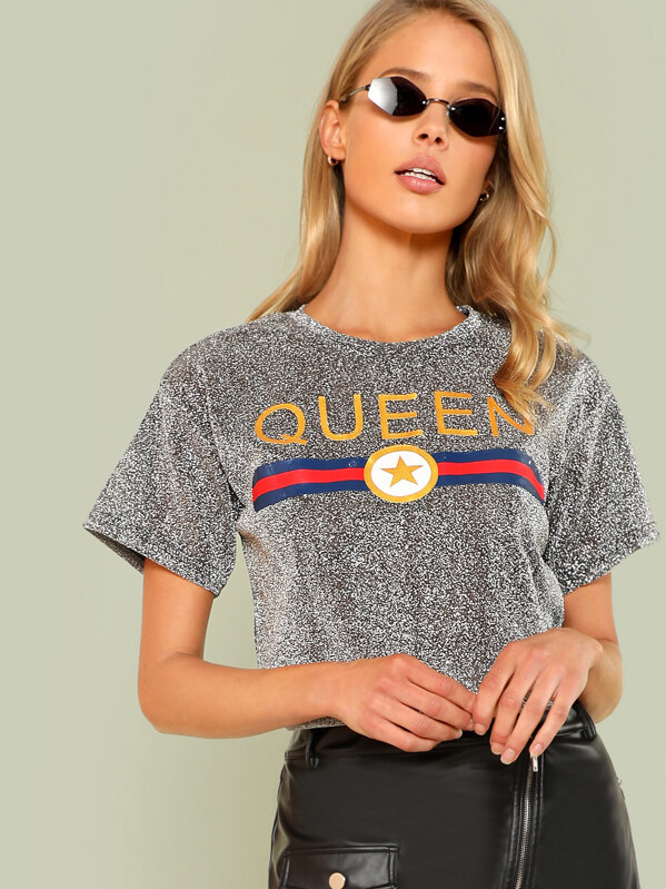 Модная футболка с принтом, Allie Leggett