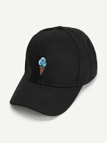 Ice cream Embroidered Baseball Cap