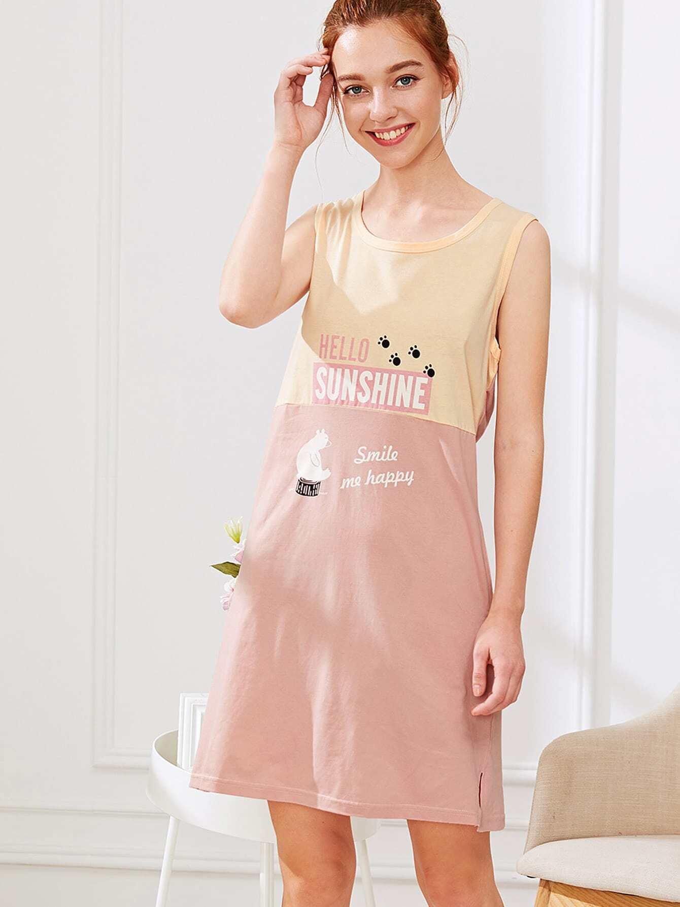 Letter Print Hidden Pocket Dress exmork 100 вт 12 в poly si