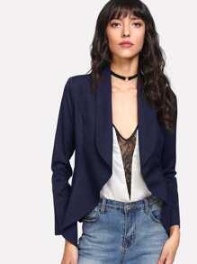Shawl Collar Open Front Blazer