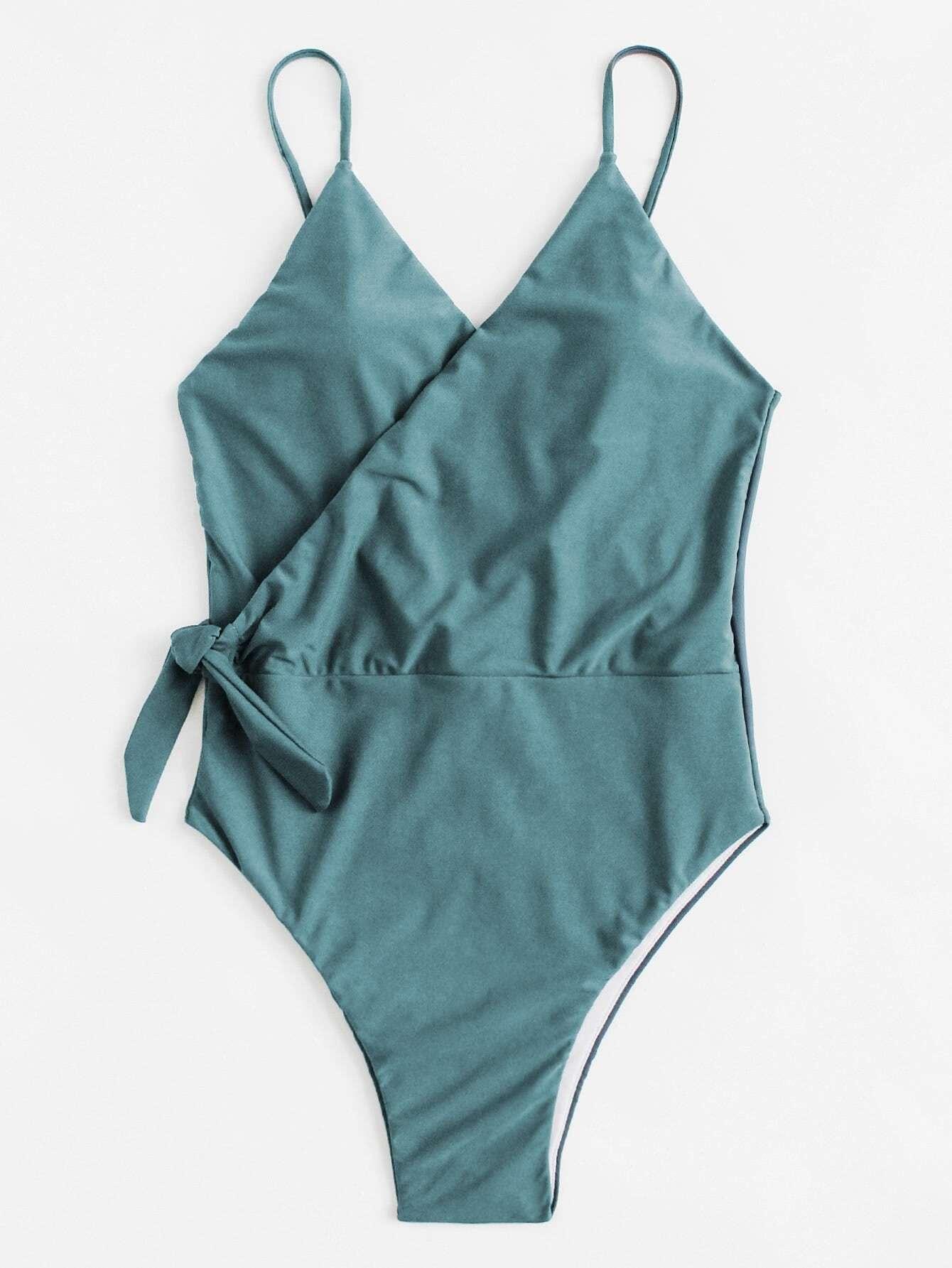 Wrap Knot Swimsuit wrap knot swimsuit