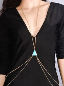 Double Layered Crossed Body Chain