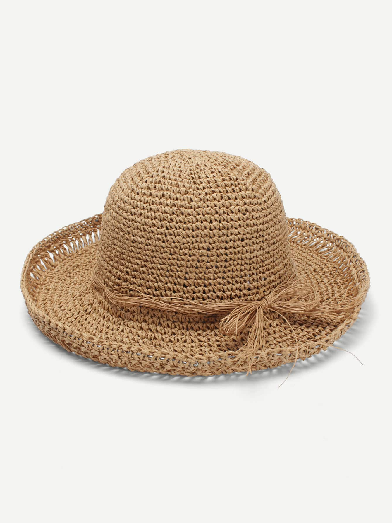 Bow Band Straw Boater Hat knot band straw hat