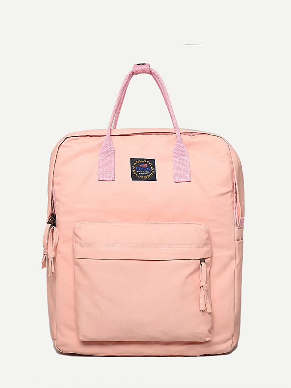 Pocket Front Satchel Backpack