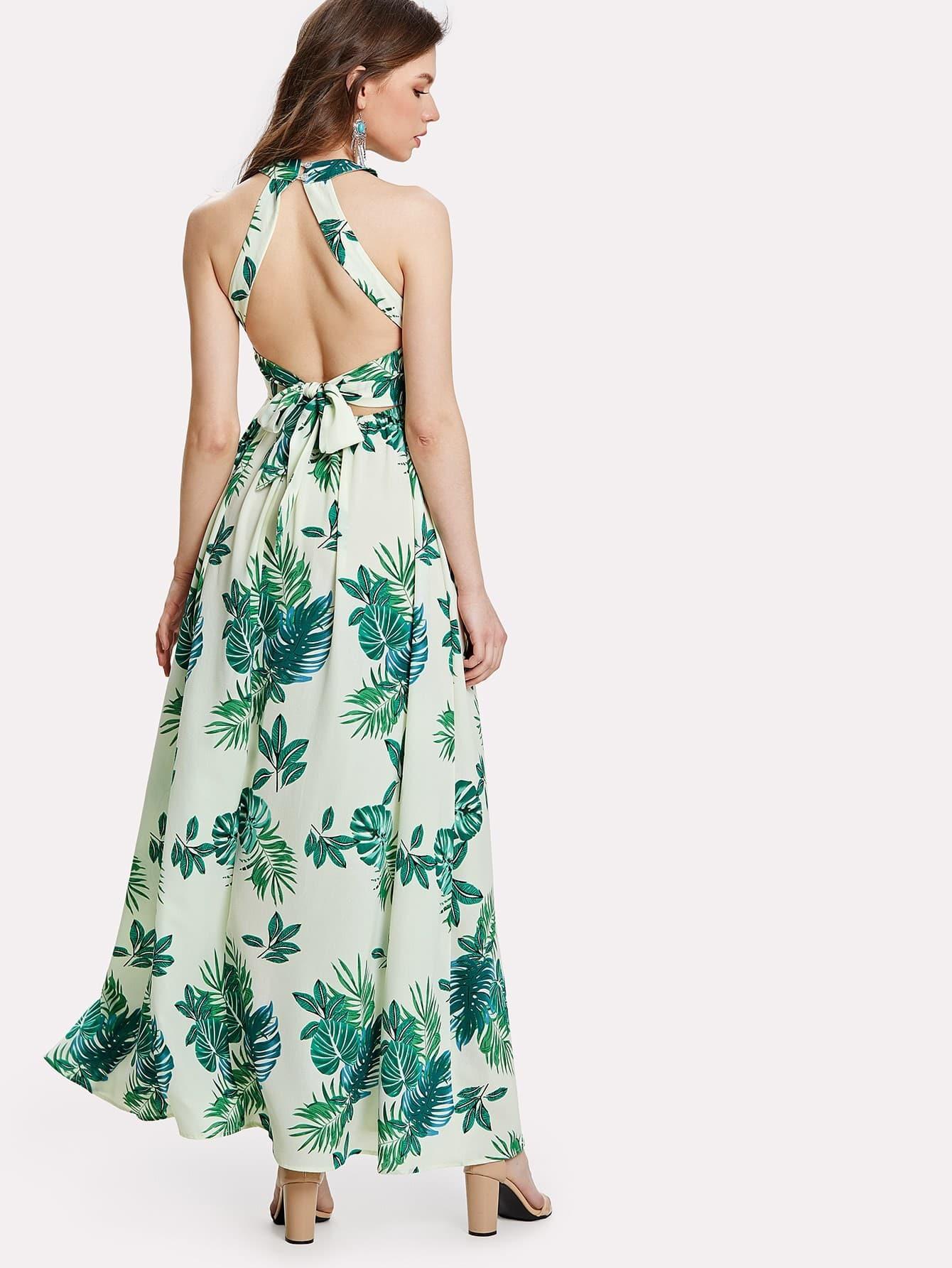 Цветочное платье с принтом