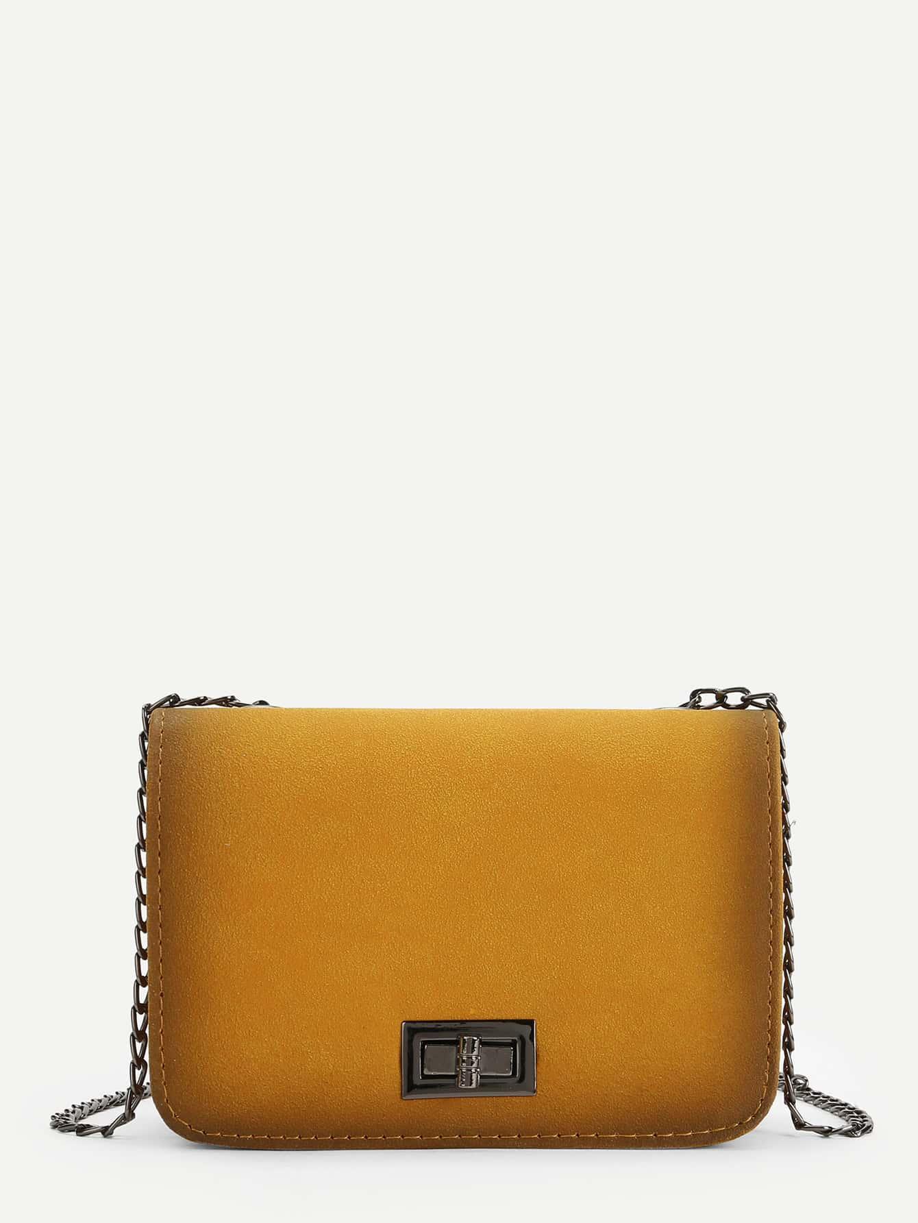 Twist Lock Chain Crossbody Bag 120cm 47 bronze twist o ring bag chain diy metal purse strap 20pcs freeshipping