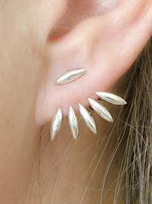 Leaf Design Ear Jacket