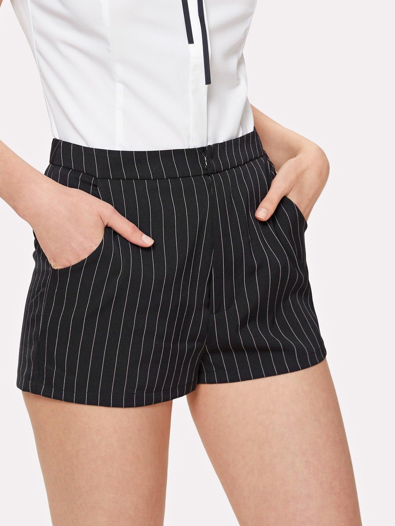 Купить Модные шорты в полоску, Mirjana, SheIn