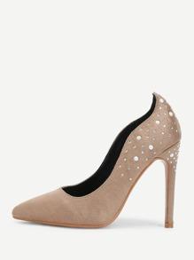 Rhinestone Decorated Stiletto Heels