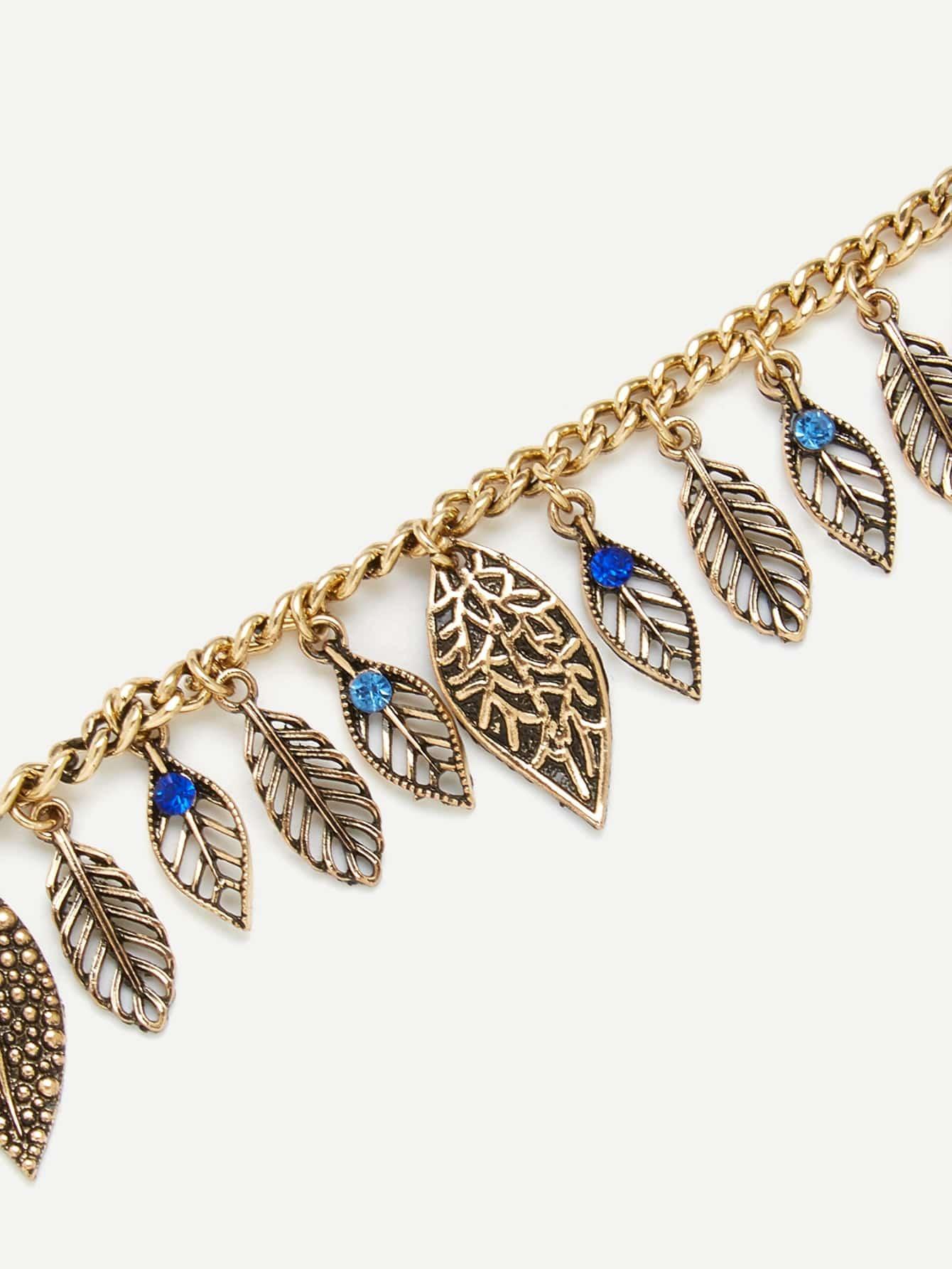 Leaf Charm Chain Bracelet leaf opening bracelet