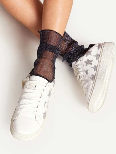 Sparkle Slouch Ankle Socks