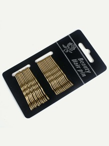Metallic Hair Pin 24pcs