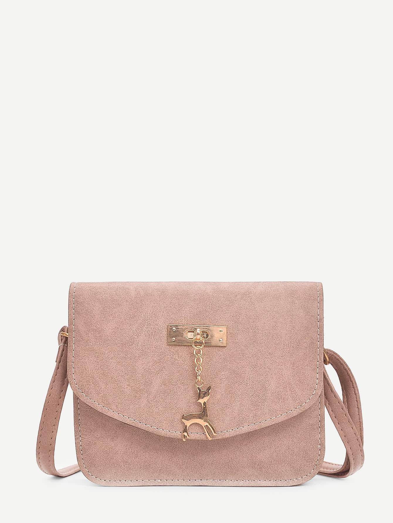 Deer Charm Shoulder Bag