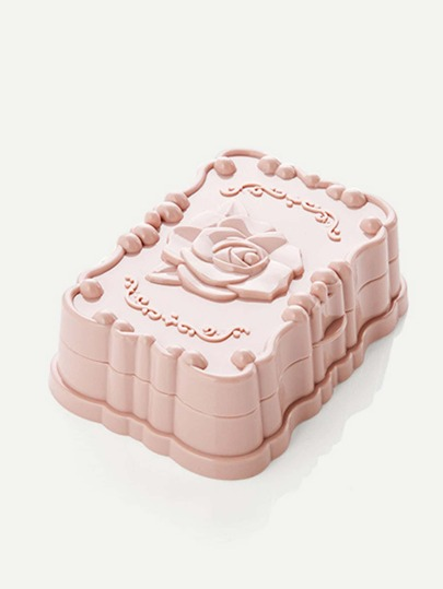 Flower Textured Soap Dish Box
