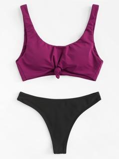 Mix And Match Knot Bikini Set