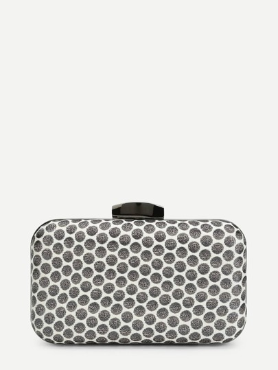 Polka Dot Clutch Chain Bag