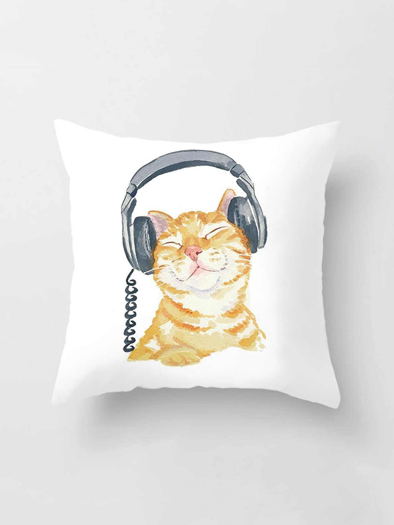 Cat Print Pillowcase Cover pug print pillowcase cover
