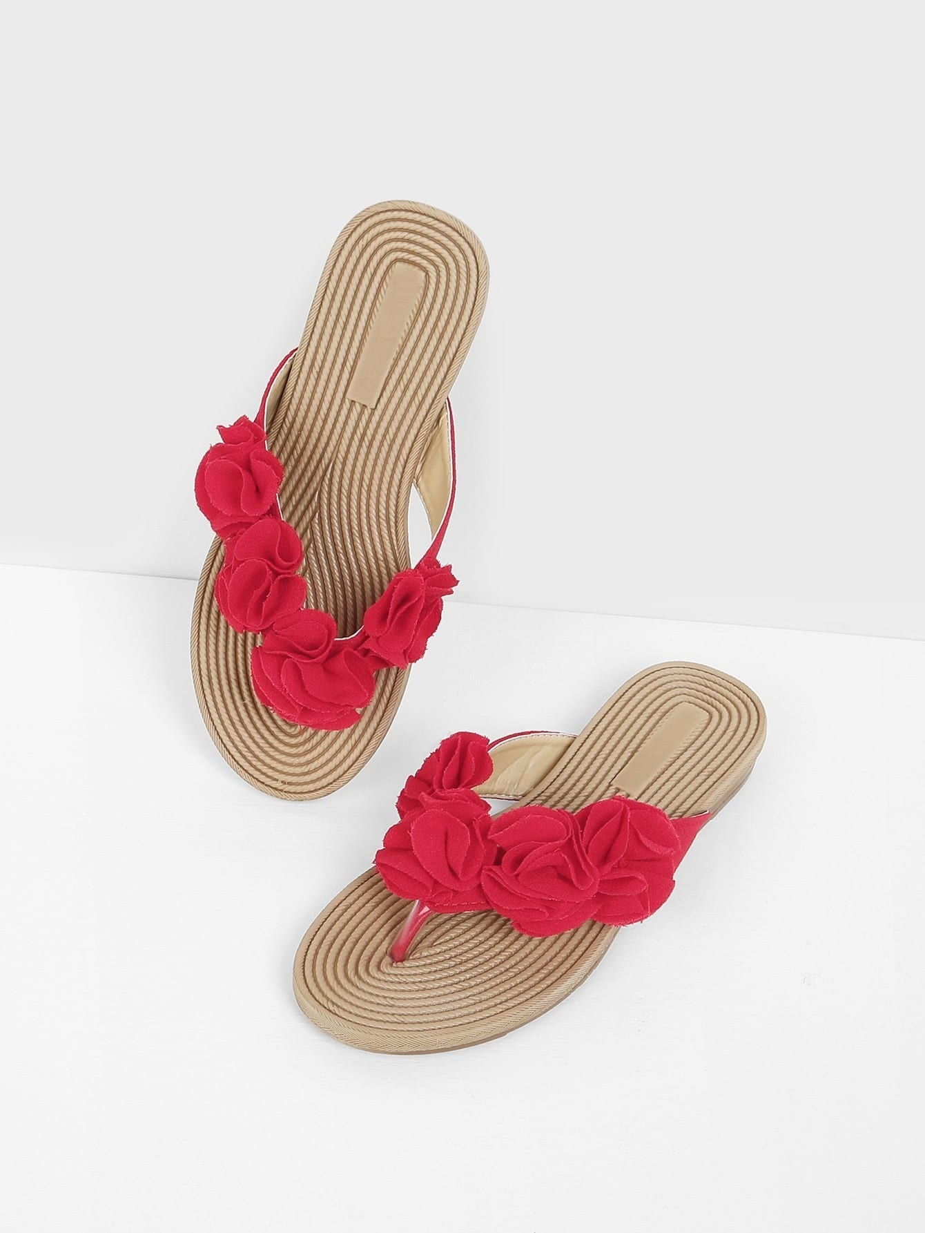 Flower Applique Cork Sandals sitemap 363 xml