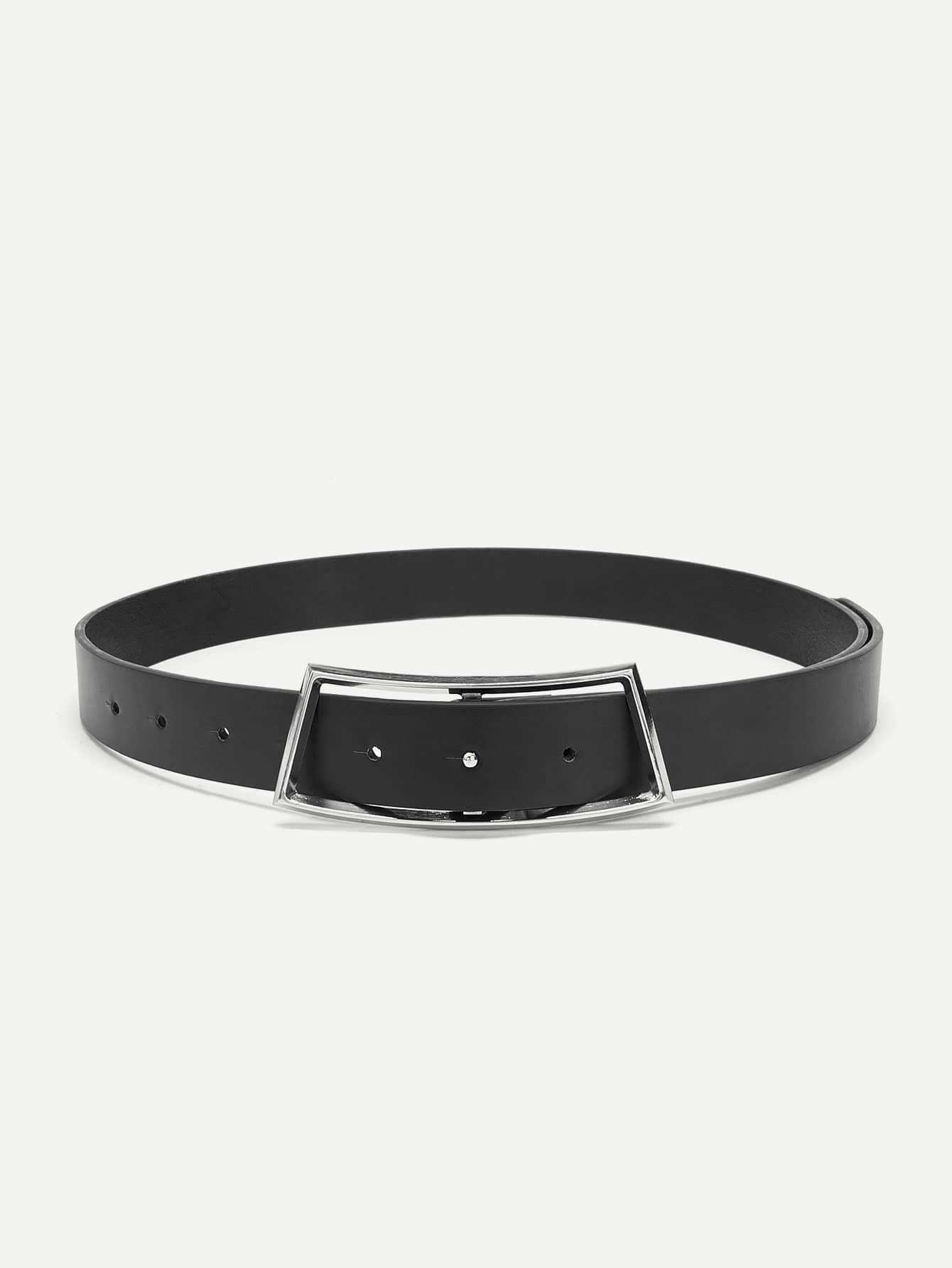 Buckle Design Faux Leather Belt все цены