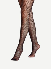 Square Fishnet Tights