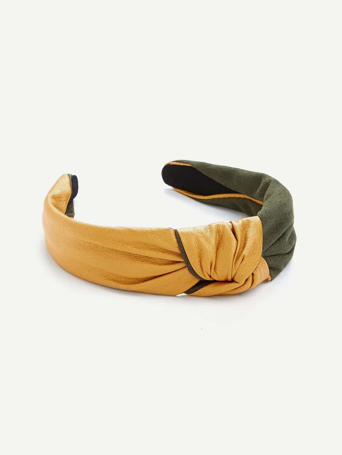 Two Tone Knot Design Headband drop crotch loose two tone pants