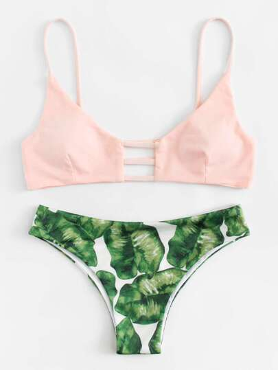 Mix And Match Palm Print Bikini Set