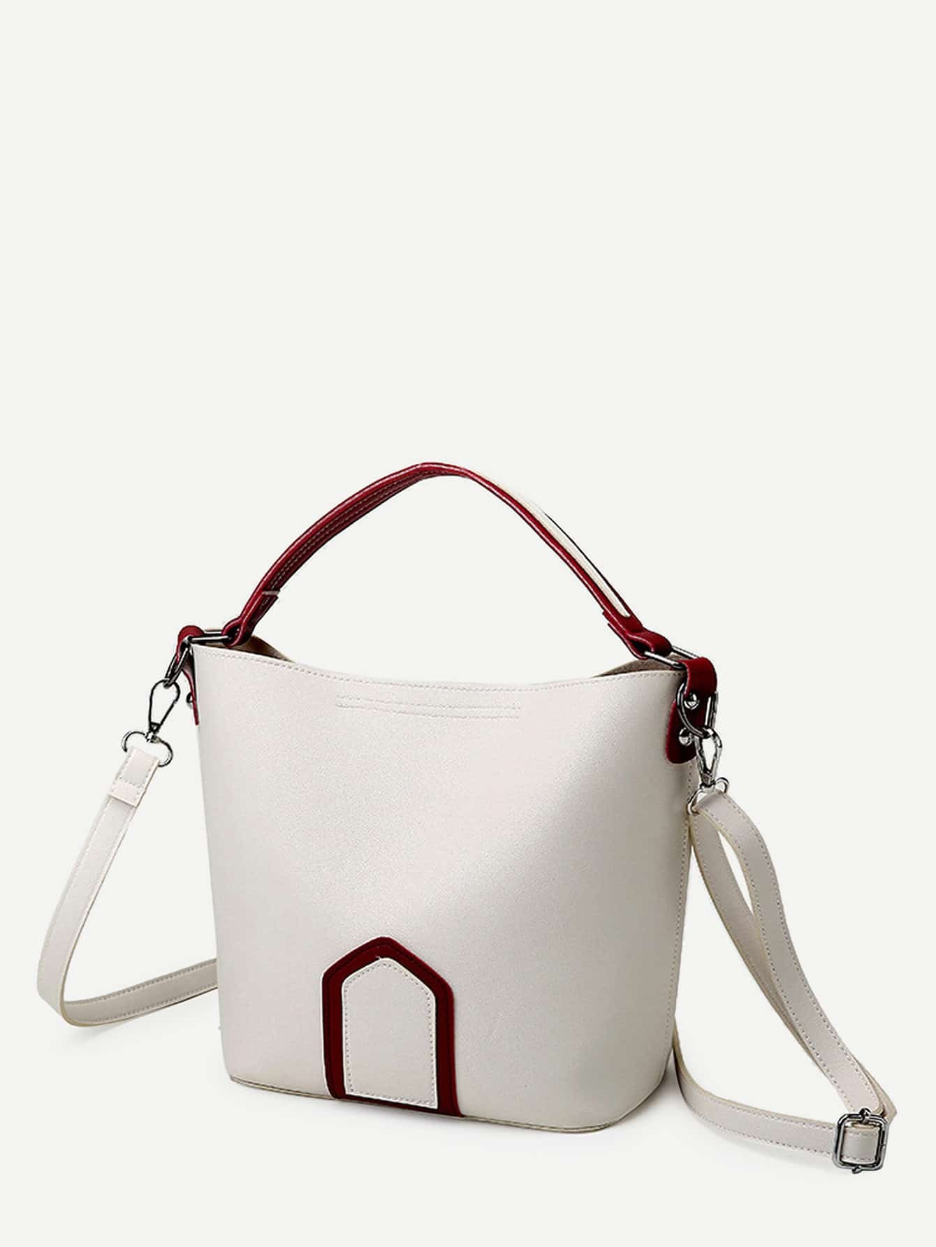 Geometric Print PU Shoulder Bag With Handle все цены