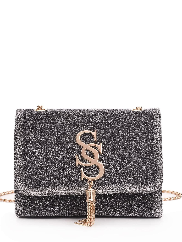 Tassel Detail Chain Crossbody Bag tassel detail studded chain bag