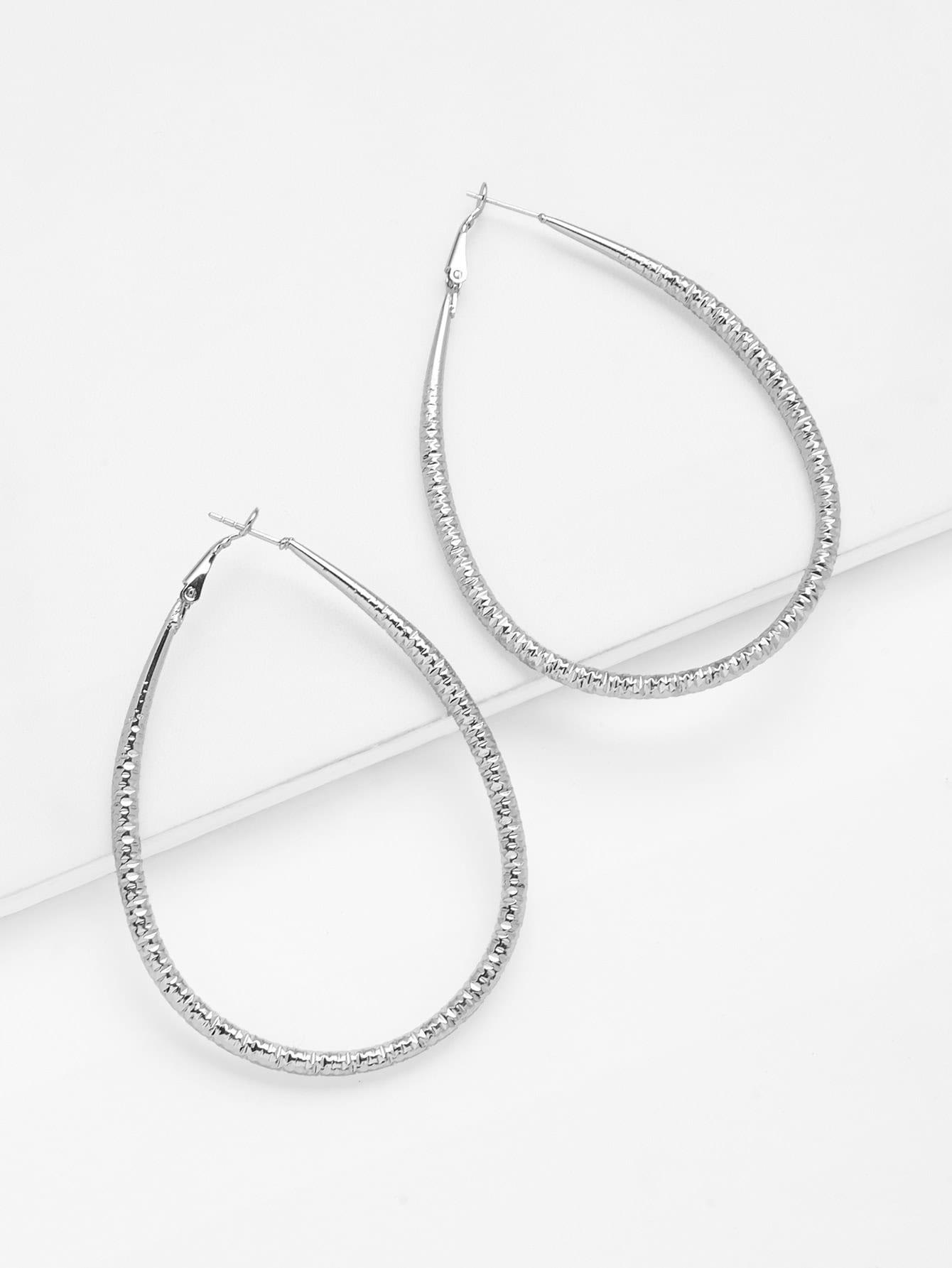 Hoop Drop Earrings glitter hoop stud earrings