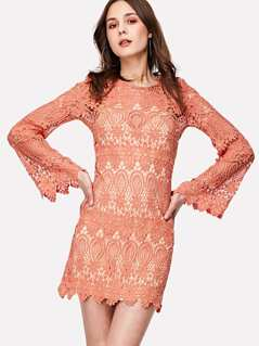 Guipure Lace Dress With Inner Slip