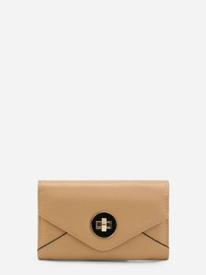 Twistlock Envelope Clutch bag