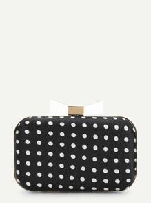 Polka Dot Clutch Chain Bag