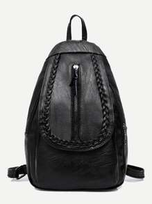 Front Zip Seam Detail Backpack