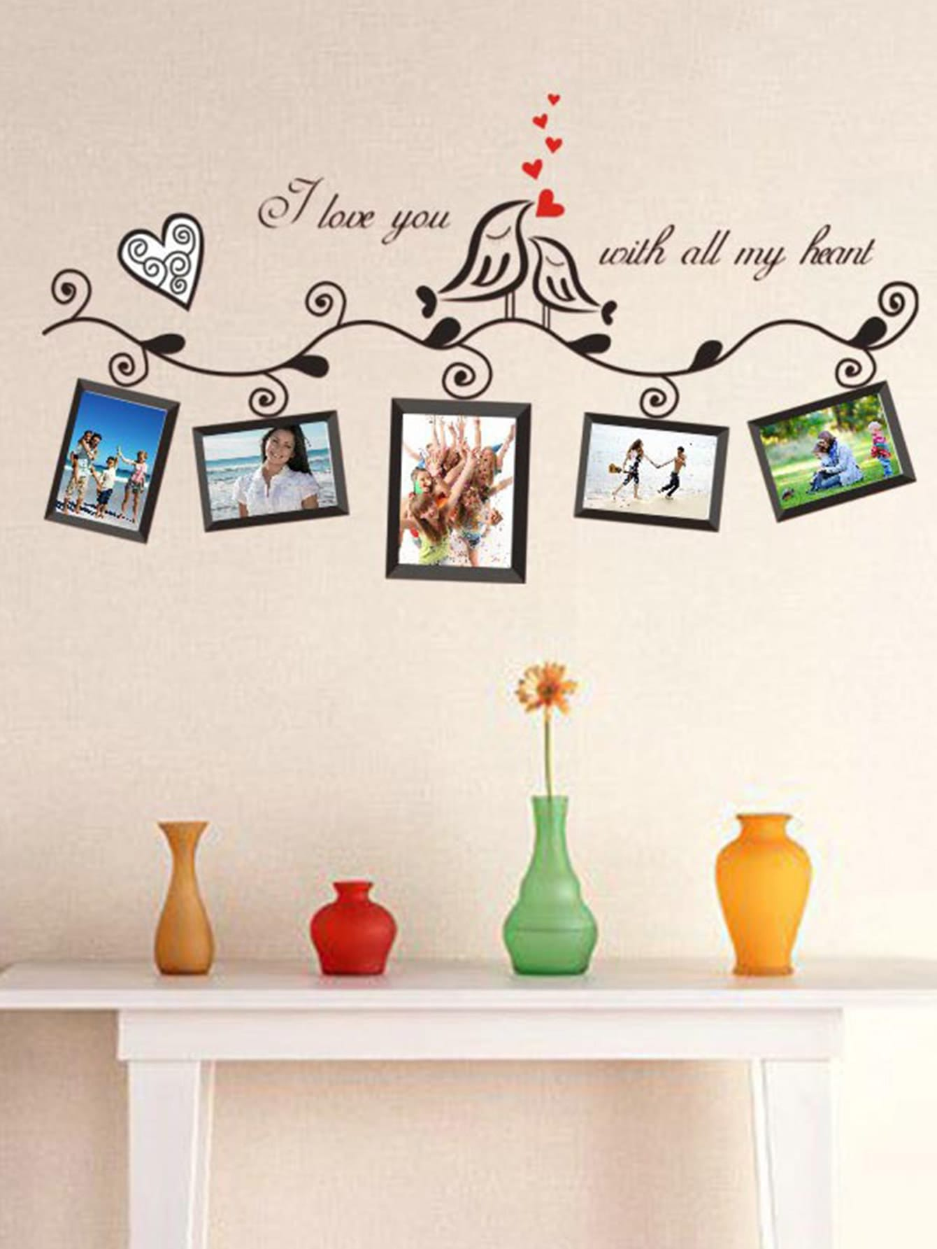 Photo Frame Wall Decal 18 wedding photo frame wall paintings trace hook nail real invisible
