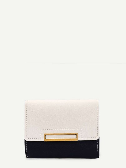 Two Tone Flap Purse