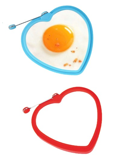 1Pc Random Color Heart Shaped Eggs Cooking Mould