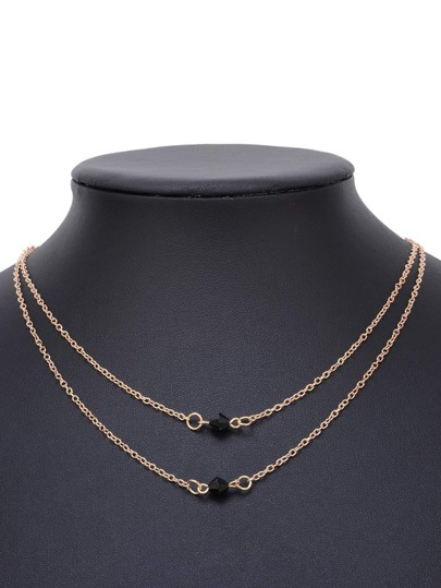 Double Layered Delicate Chain Necklace