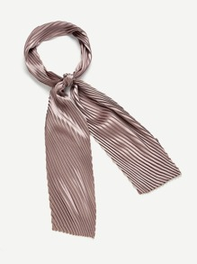 Plain Pleated Skinny Scarf