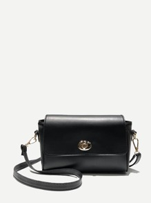 Twist Lock PU Shouler Bag