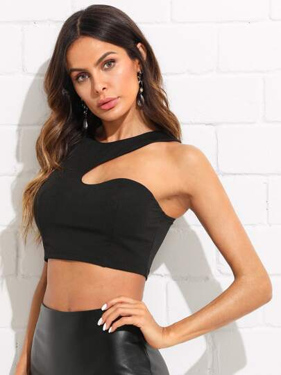 Asymmetrisches Crop Top