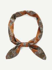 Paisley Print Twilly Scarf