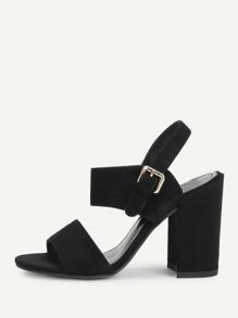 Buckle Strap Slingback Heels