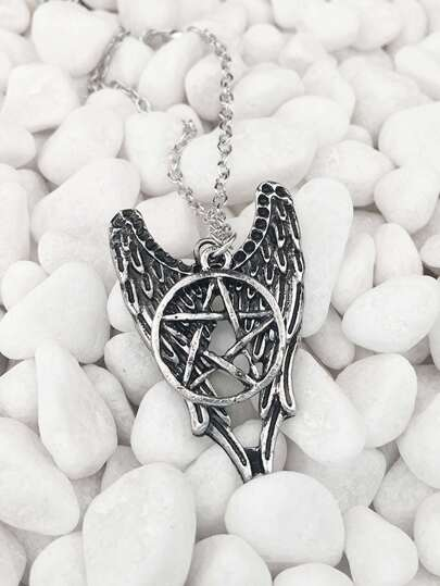 Star & Wing Pendant Chain Necklace