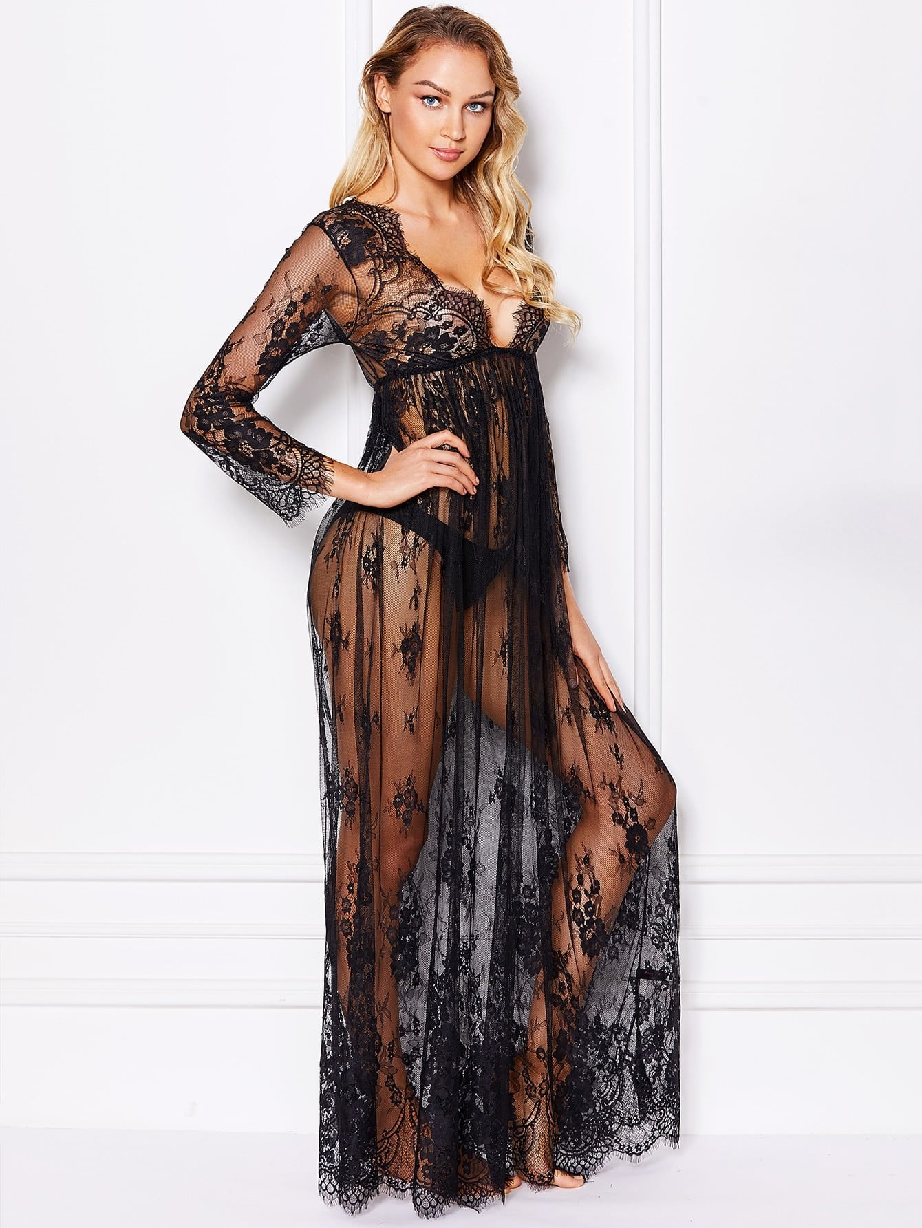 Maxi Floral Lace Dress With Thong зимняя шина gislaved euro frost 5 255 55 r18 109h xl н ш fr