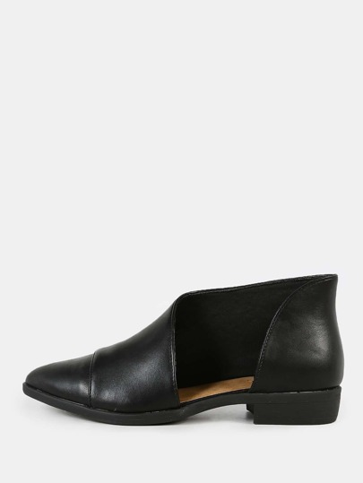 Pointed Toe Open Shank Bootie BLACK
