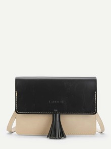 Tassel Detail Chain Bag