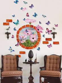 Butterflies Swarm Wall Decal
